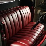1929 Stutz Black Hawk interior ,seat has pull down armrests
